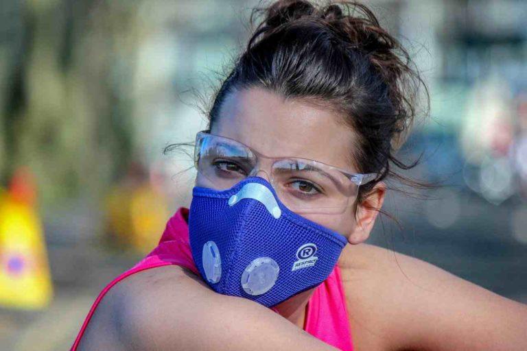 Trainingsmaske blau Frauen
